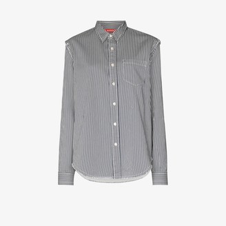 Denimist Distressed Striped Button-Up Shirt