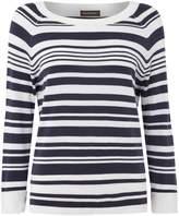 Repeat Cashmere Stripe crew neck jumper
