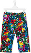 DSQUARED2 printed trousers - kids - Cotton/Spandex/Elastane - 14 yrs