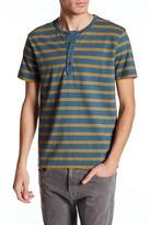 Lucky Brand Short Sleeve Stripe Henley