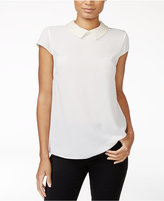 Maison Jules Embellished Collar Top, Only at Macy's