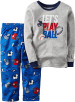 Carter's 2-pc. Gray Draft Pick Fleece Pajama Set - Baby Boys newborn-24m