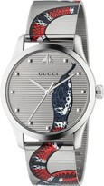Gucci G-Timeless Snake Mesh Strap Watch, 38mm