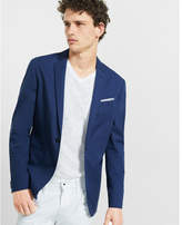 Express slim photographer twill blue jacket