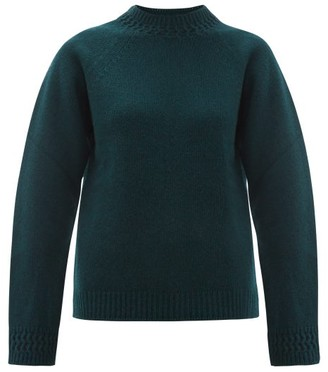 A.P.C. Janet Wool-blend Sweater - Womens - Dark Green