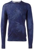 Etro leaf motif jumper - men - Silk/Cashmere/Wool - S