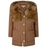 Chloé ChloeGirls Tan Padded Long Coat