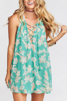 Show Me Your Mumu Green Tie-Up Dress