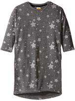 C&C California Kids French Terry Cocoon Dress with Star Print (Little Kids/Big Kids)