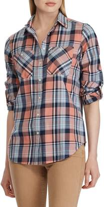 Lauren Ralph Lauren Relaxed-Fit Plaid Cotton Button-Down Shirt