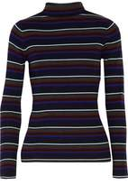 Alexander Wang Striped Merino Wool Turtleneck Sweater