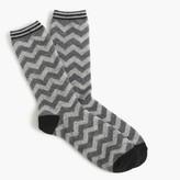 J.Crew Trouser socks in chevron print