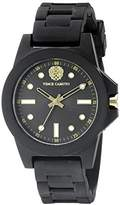 Vince Camuto Women's VC/5280BKBK Silicone Strap Watch