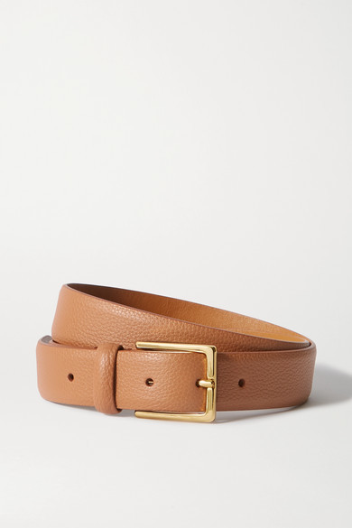 Thumbnail for your product : Andersons Textured-leather Belt - Tan