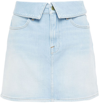 Frame Le High Mini Faded Denim Mini Skirt