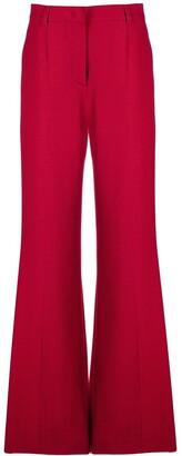 Alberta Ferretti Long Flared Trousers