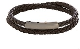 Bottega Veneta Intrecciato Double Leather Bracelet