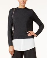 Alfani Layered-Look Sweater, Only at Macy's