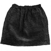 Masscob Black Wool Skirt for Women