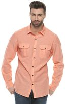 Marc Anthony Men's Slim-Fit Linen-Blend Textured Button-Down Shirt