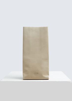 Loom Medium Fake Paper Bag in Beige