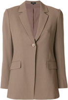 Theory flap pocket blazer - women - Polyester/Spandex/Elastane/Acetate/Viscose - 4