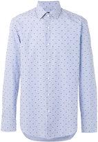 HUGO BOSS dots print striped shirt - men - Cotton - 42