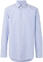 HUGO BOSS dots print striped shirt