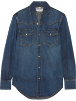 Saint Laurent Classic Denim Shirt - Mid denim