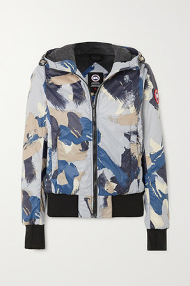 Canada Goose Dore Hooded Camouflage-print Shell Down Jacket - Navy
