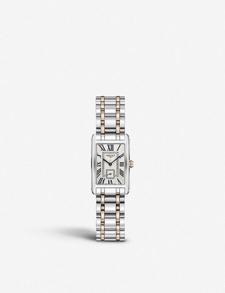 Longines L5.255.5.71.7 DolceVita stainless steel and 18ct rose-gold watch