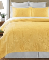 Martha Stewart Collection CLOSEOUT! Collection Atlantic Palm Yellow Twin Quilt