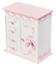 Mele Cristiana Girl's Musical Ballerina Jewelry Box