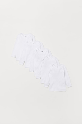 H&M 5-pack Jersey Shirts - White
