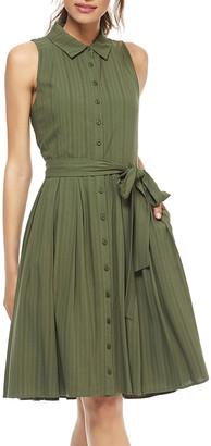 Gal Meets Glam Women's Casual Dresses ELM - Elm Stripe Gwen Sleeveless Shirt Dress - Women & Juniors