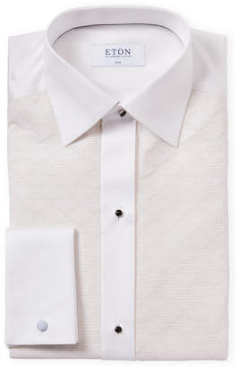 Eton White & Gold French Cuff Formal Dress Shirt