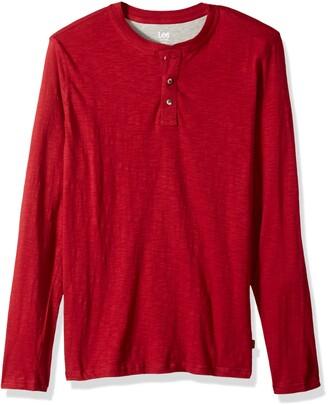 Lee Men's Shirt Weekender Long Sleeve Casual Henley Regular Big Tall