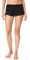 Only Hearts Feather Weight Rib Lace Trim Sleep Shorts