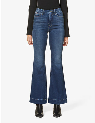 Good American Good Flare high-rise stretch-denim jeans