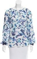 Peter Som Silk Abstract Print Top