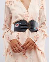 New Look Embroidered Waist Belt