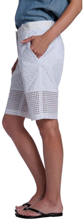 Tibi Eyelet Shorts