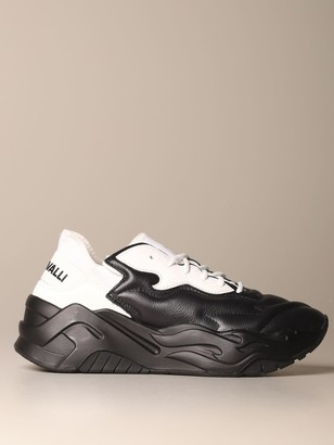 Just Cavalli P1thon Sneakers In Leather And Neoprene