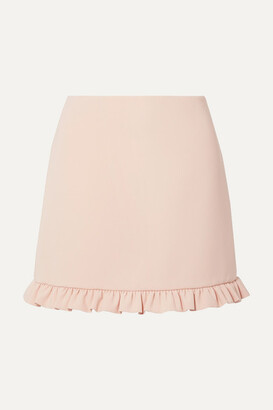 Miu Miu Ruffled Cady Mini Skirt - Blush