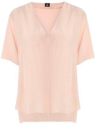 OSKLEN V neck silk blouse