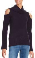 Elie Tahari Cashmere Cold Shoulder Sweater