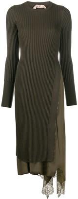 No.21 Asymmetric Knit Dress