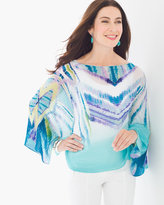 Chico's Ikat Pleated Poncho