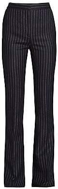 Alexander McQueen Women's Pinstripe Wool Pants