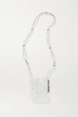 Susan Fang Bubble Passport Beaded Shoulder Bag - Clear